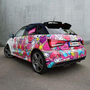 Audi A1 Einhorn Folierung